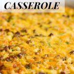 Overnight breakfast casserole.