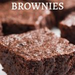 Delicious fudgy gluten-free brownies.