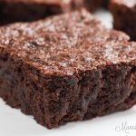 Closeup of easy to make brownies