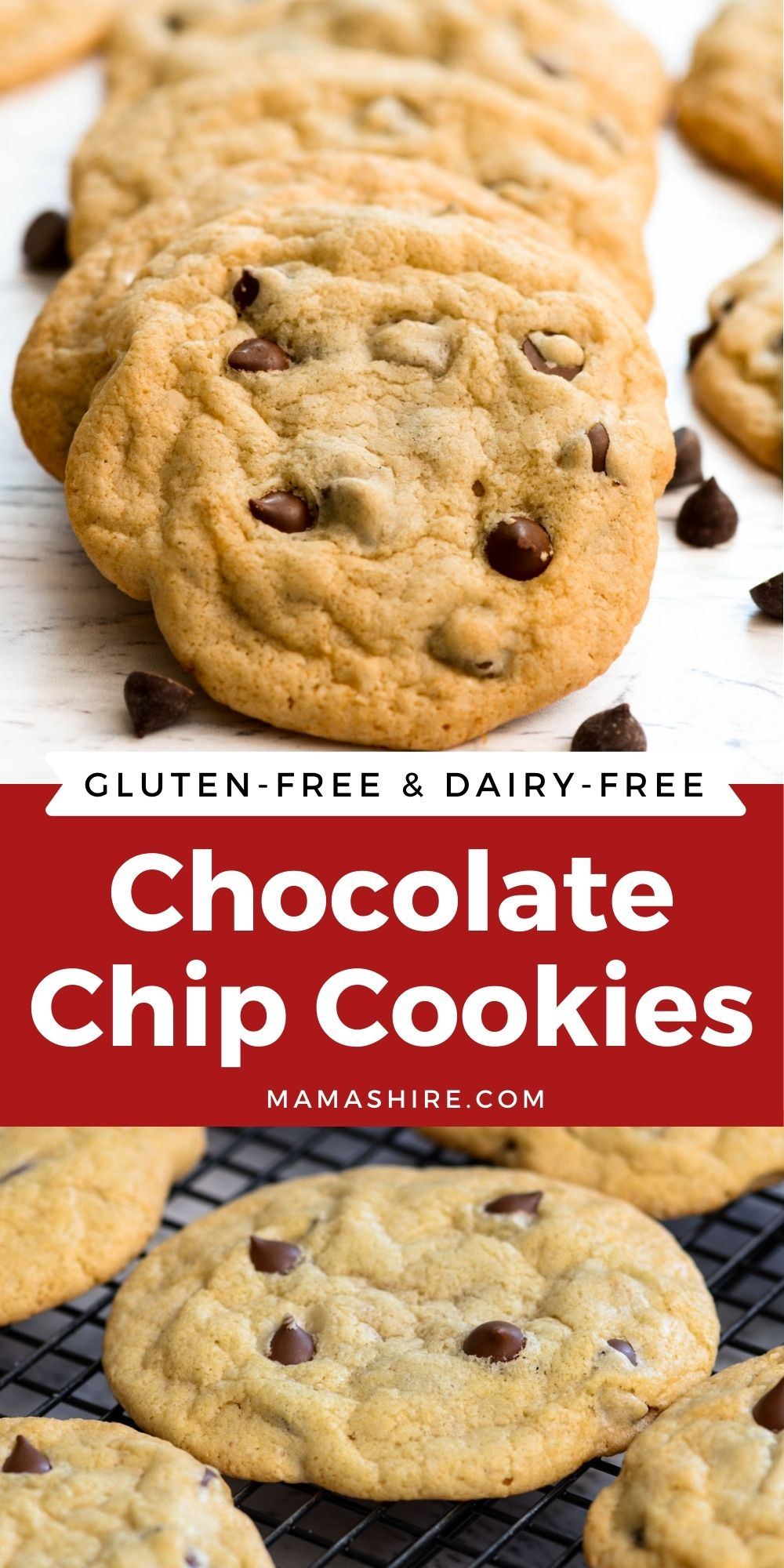 The best gluten-free chocolate chip cookies fresh from the oven.