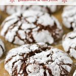 Gluten-free chocolate crinkle cookies