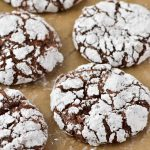 Gluten-free chocolate cookie with powdered sugar
