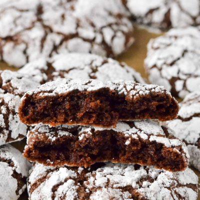 Gluten-Free Chocolate Crinkle Cookies (Dairy-Free)