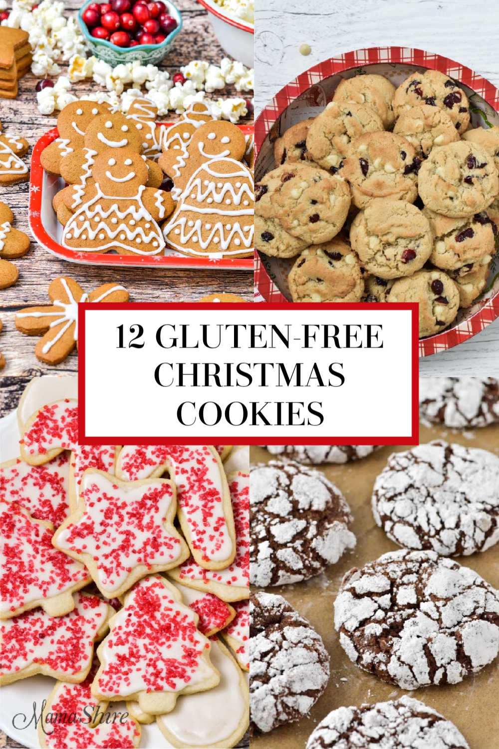 A picture of classic gluten-free Christmas Cookies