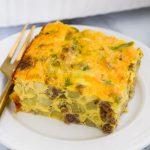 Gluten-free dairy-free breakfast casserole.
