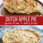 A fresh baked Dutch Apple Pie made from a Gluten-Free Recipe.