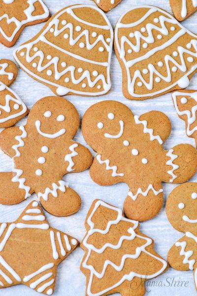 Dairy-free and gluten-free gingerbread cookies.