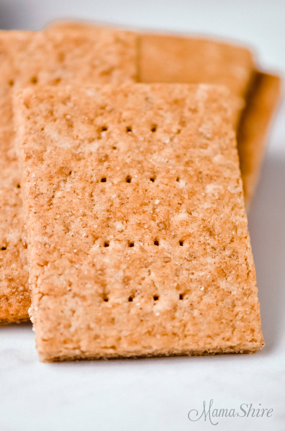 Crackers made with a homemade gluten-free graham cracker recipe.