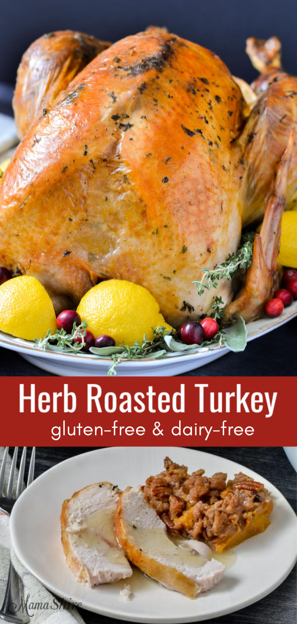 A big beautiful herb roasted turkey.