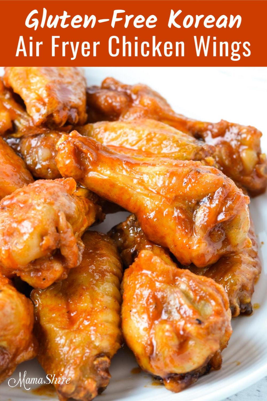 Gluten-free Korean Air Fryer Chicken Wings