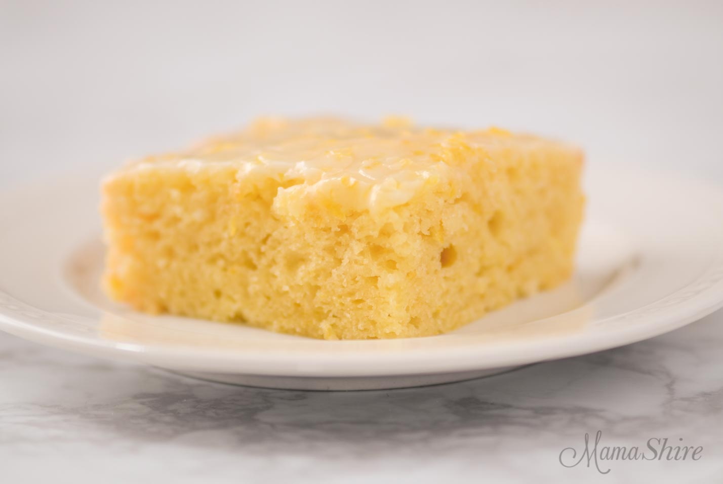 Lemon brownie made from a gluten-free recipe