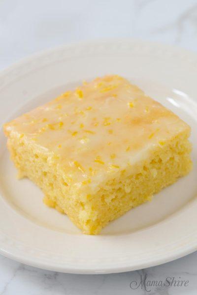 Gluten-free lemon brownie.