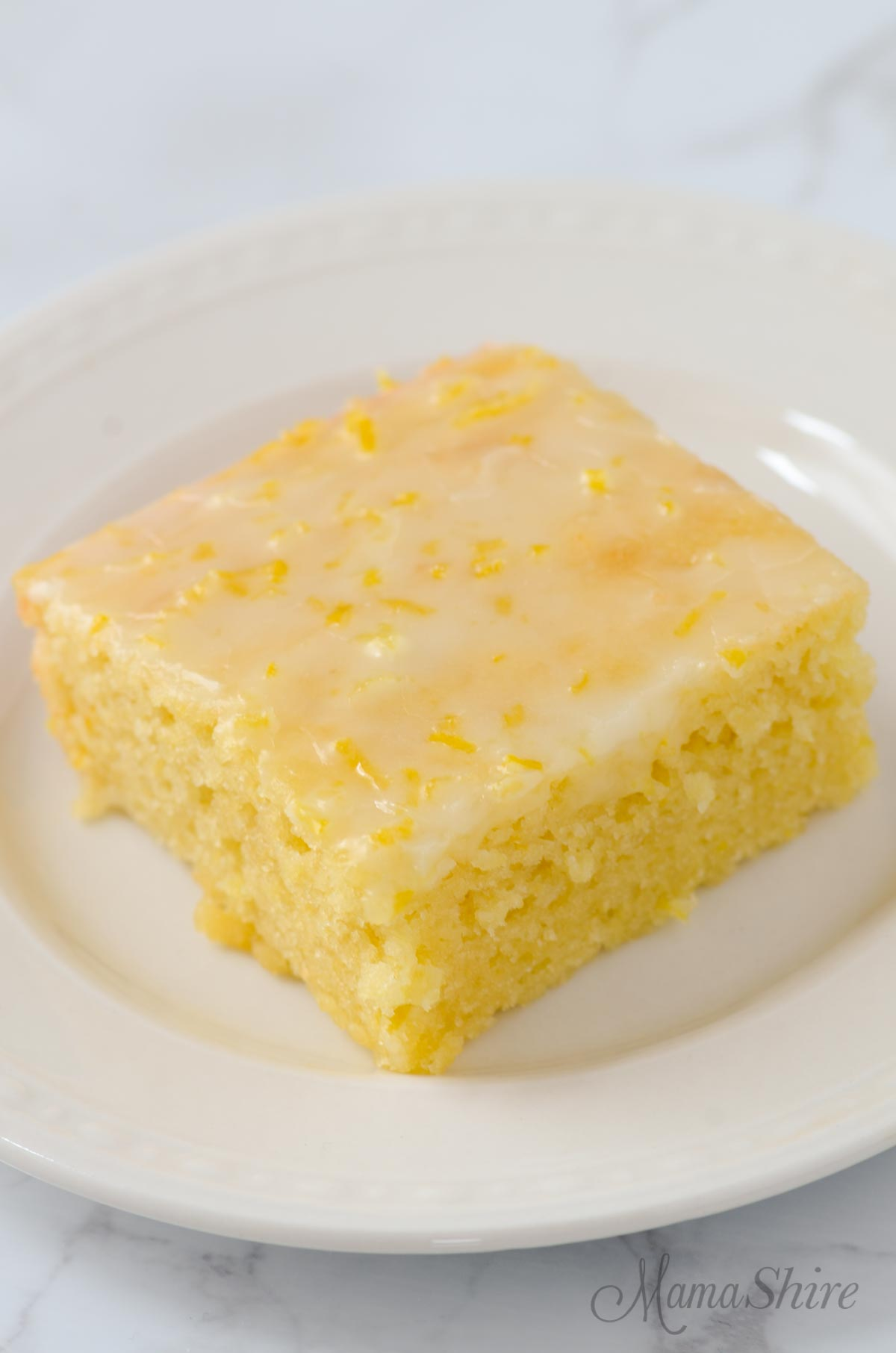 Gluten-free lemon brownie.