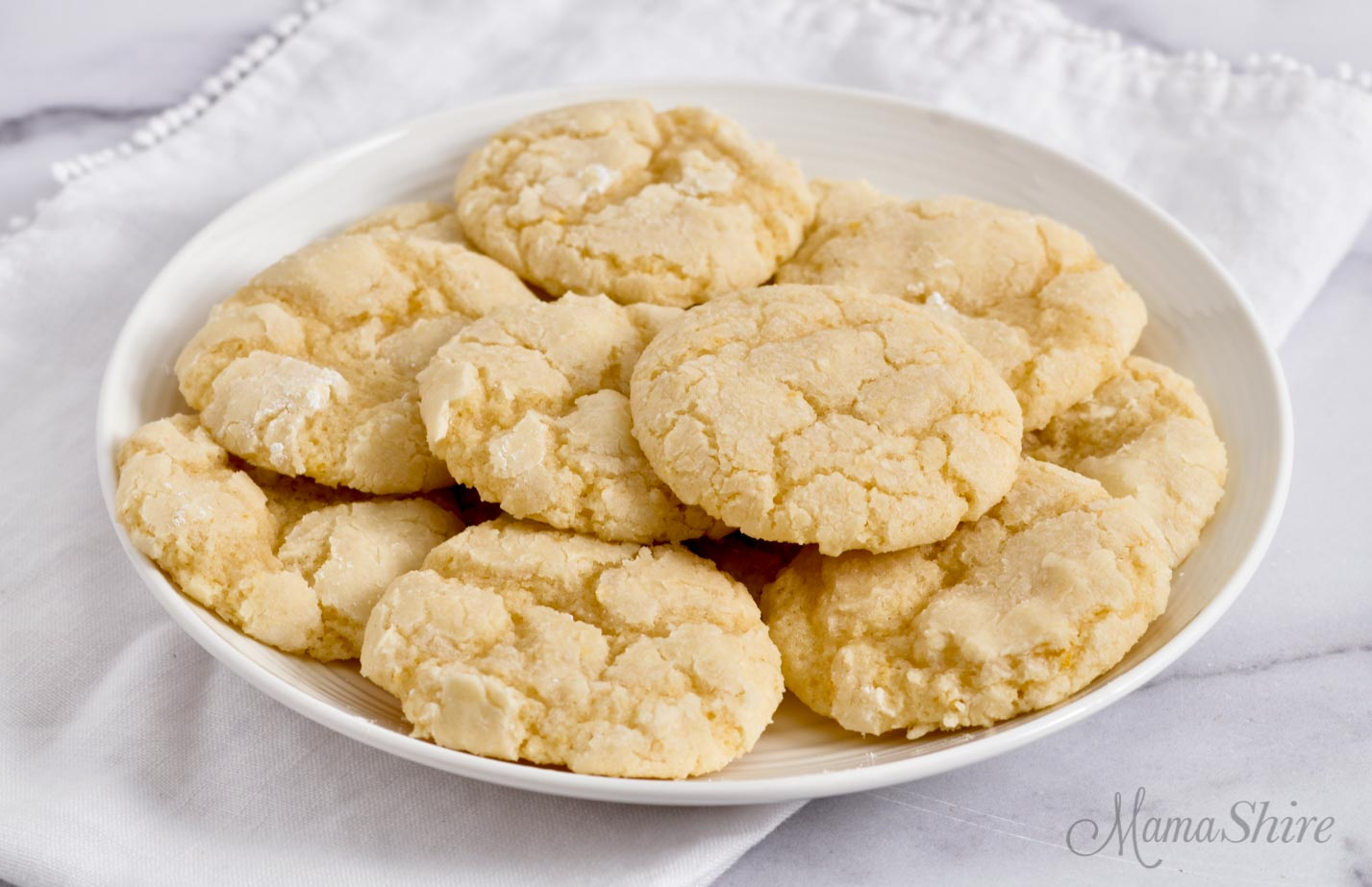 Gluten-free lemon cookies.