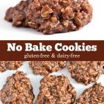 No bake cookies made from a gluten-free and dairy-free recipe.