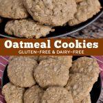 Baked gluten-free cookies.