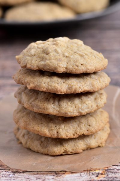 A stack of gluten-free cookies.