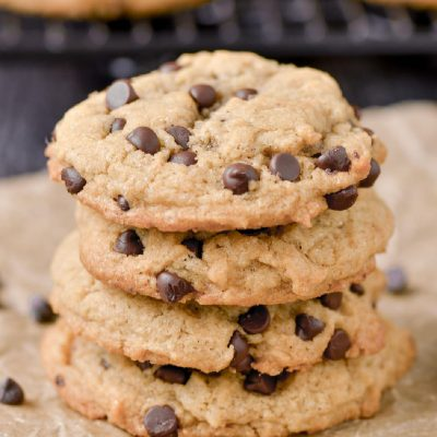 Gluten-Free Peanut Butter Chocolate Chip Cookies (Dairy-Free)