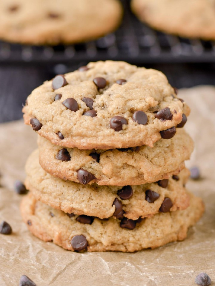 Chocolate Chip Cookies with Peanut Butter (Gluten-Free)