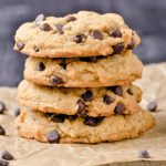 A stack of gluten free cookies.