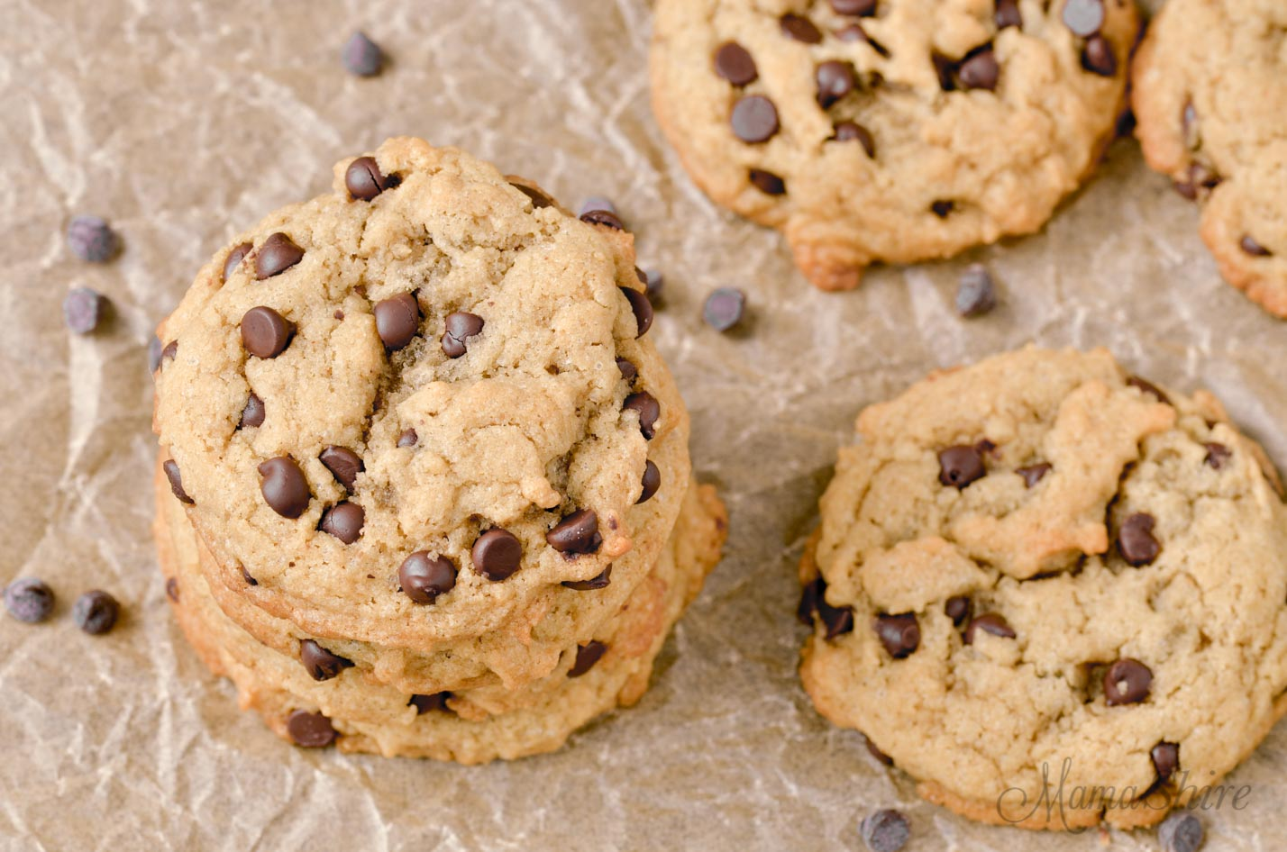 Gluten-Free Peanut Butter Chocolate Chip Cookies in my Gluten-Free Christmas Cookies Roundup.
