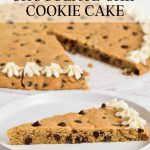 Cookie cake with chocolate chips. Gluten-free and dairy-free.