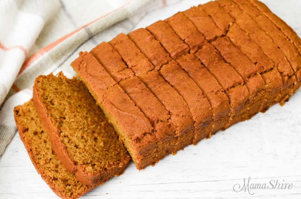 A loaf of pumpkin bread.