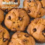 Muffins made from a gluten-free and dairy-free recipe.