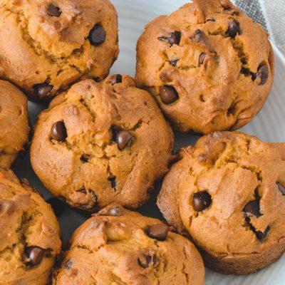 Gluten-Free Pumpkin Chocolate Chip Muffins (Dairy-Free)