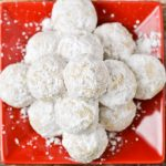 Snowball cookies also know as pecan snowballs.