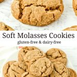 A plate full of yummy gluten-free soft molasses cookies.