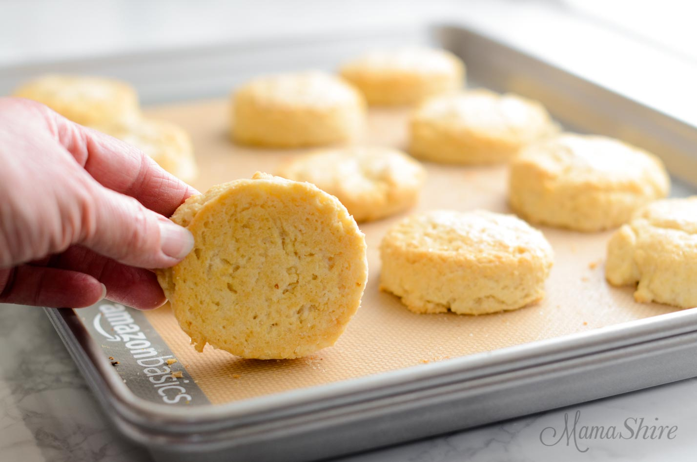 Gluten-free shortcakes with no burning on the bottom.