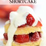 Gluten-free strawberry shortcake with homemade shortcakes and icing.