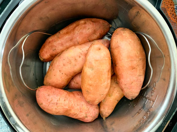 Sweet potatoes in an Instant Pot.