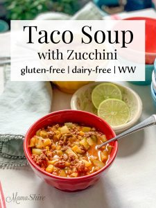Gluten-Free Taco Soup with Zucchini