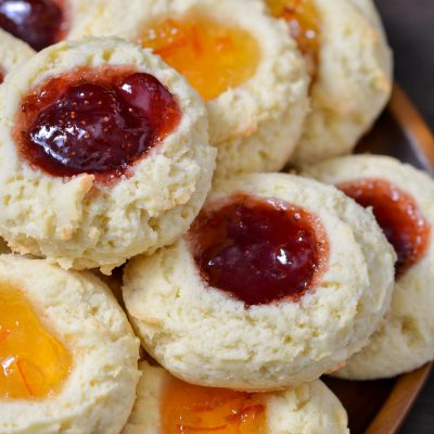 Gluten-Free Thumbprint Cookies (Dairy-Free)