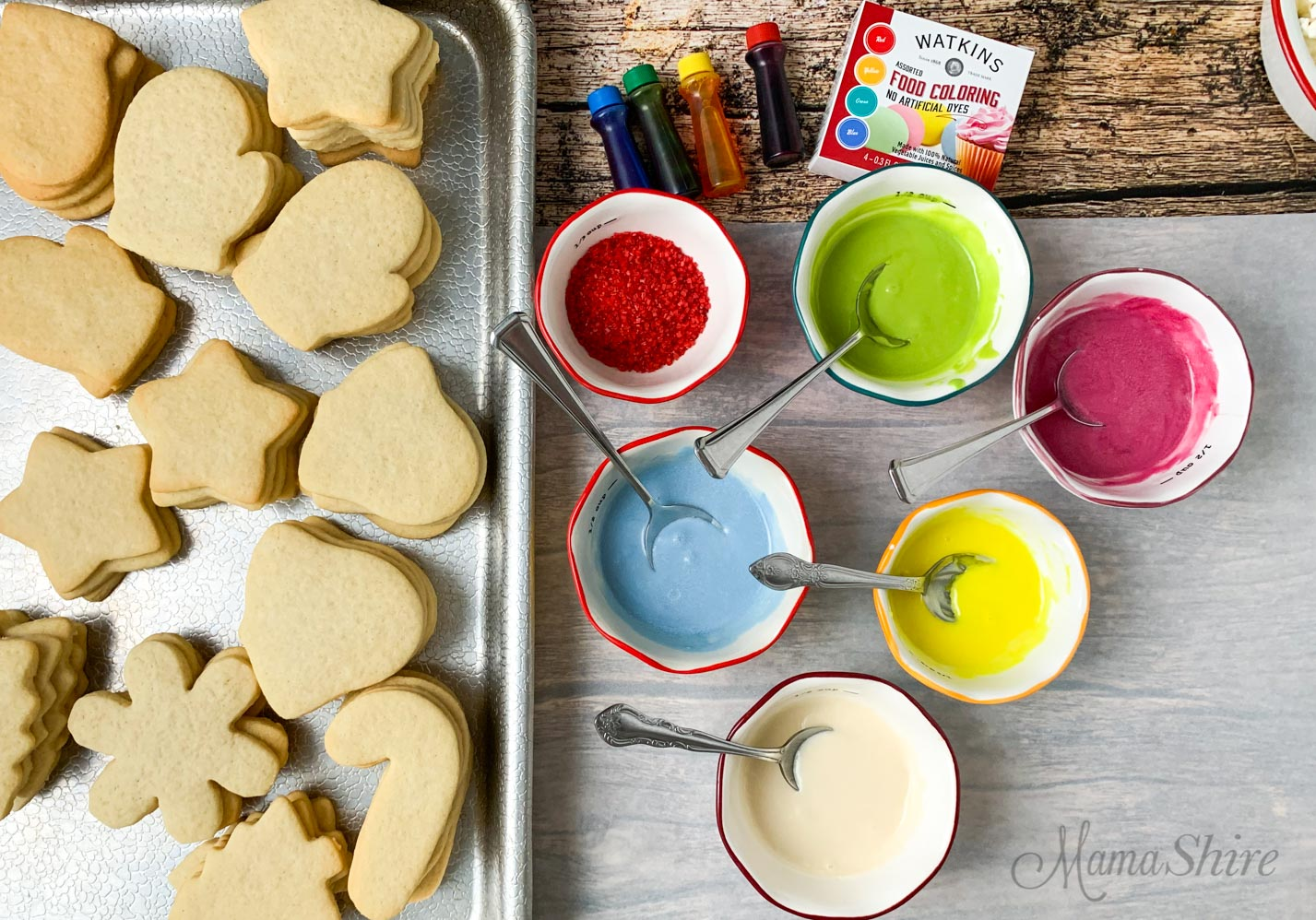 Gluten-free cookies and easy dairy-free icing.
