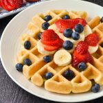 Gluten-Free Waffles with fruit.