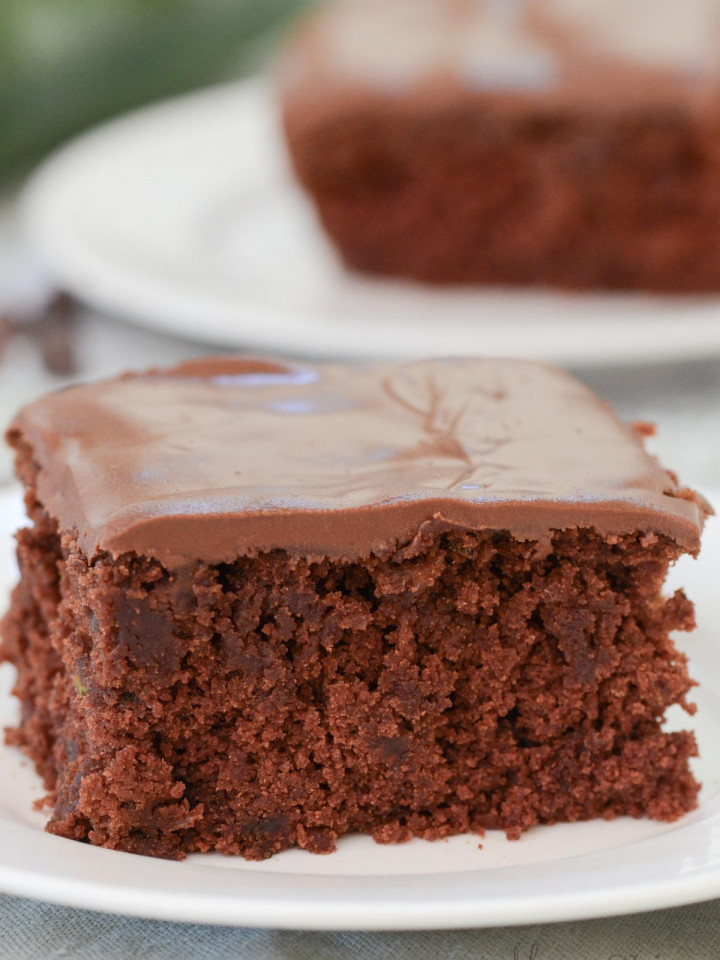 Two servings of chocolate gluten-free zucchini brownies.