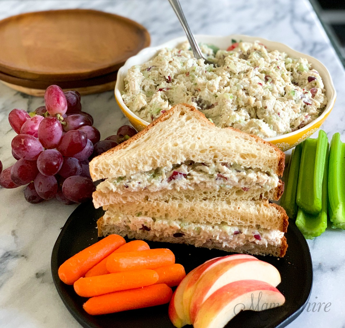 Gluten-free chicken salad sandwiches