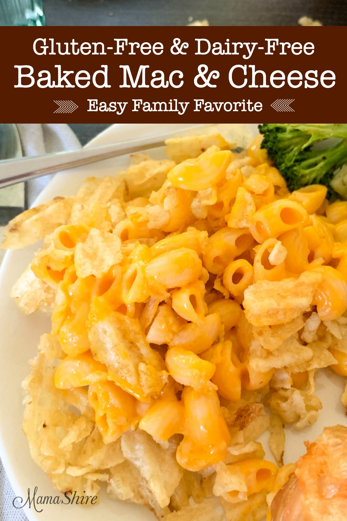 Dairy-free macaroni and cheese made with crunchy, buttery potato chips.