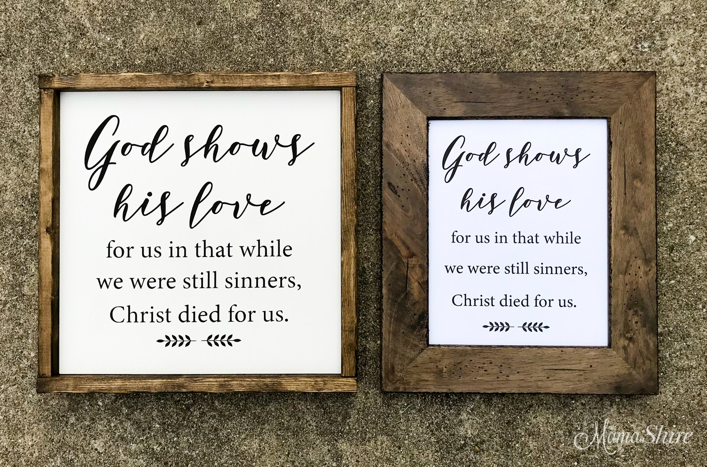 God Shows His Love Wood Sign & Printable PDF