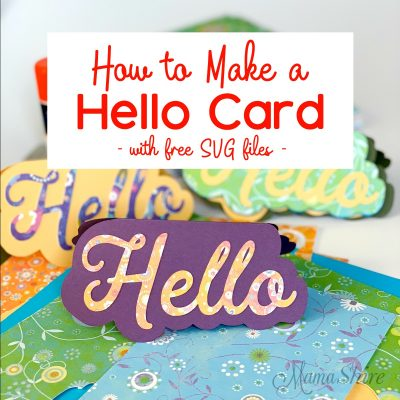 How to Make a Handmade Hello Shaped  Card