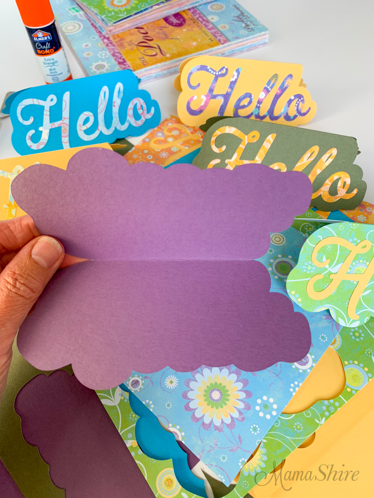 Cardstock for making the Hello card.