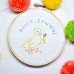 Free Embroidery Pattern for Spring - Hello Spwing!