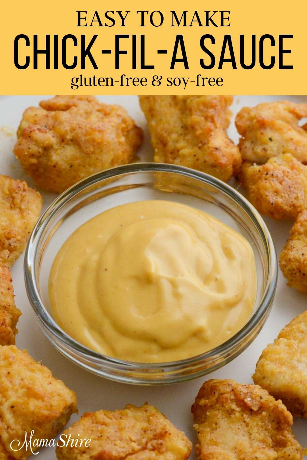 A closeup picture of homemade Chick-Fil-A sauce
