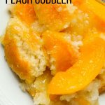 Gluten-free peach cobbler.
