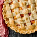 Homemade gluten-free peach pie.