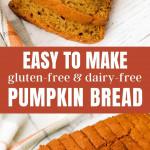 Gluten-free pumpkin bread loaves sliced.