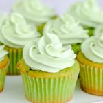 A closeup of gluten-free jello cupcakes.